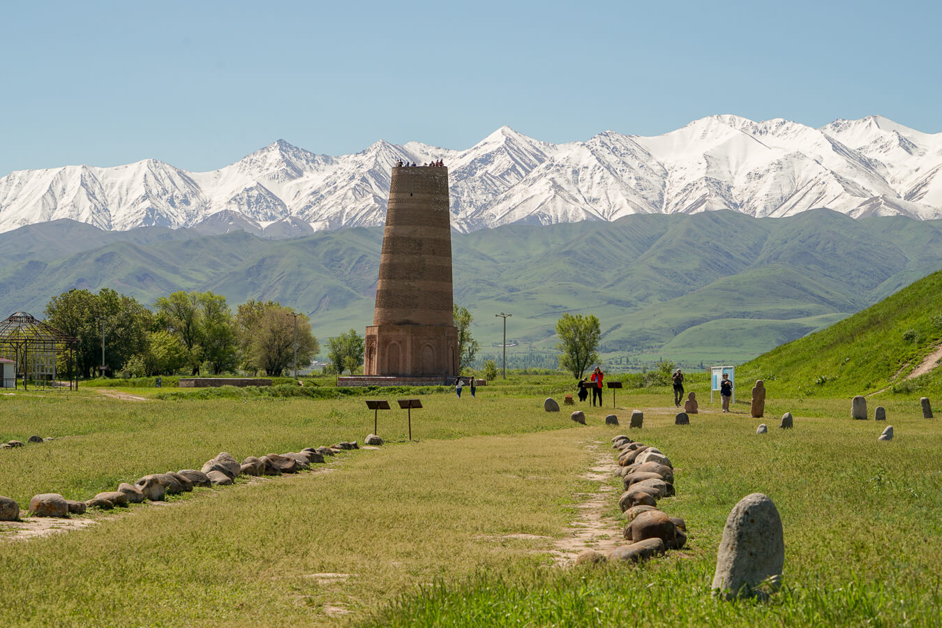Burana tower in ancient Balasagun