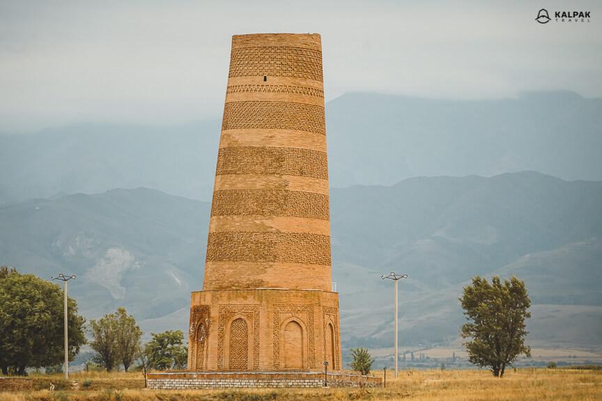 Burana minaret in Kyrgyzstan
