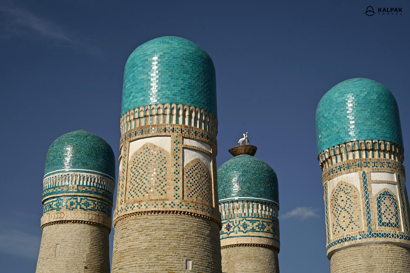 Chor minor or 4 minarets -towers of mosque in Bukhara