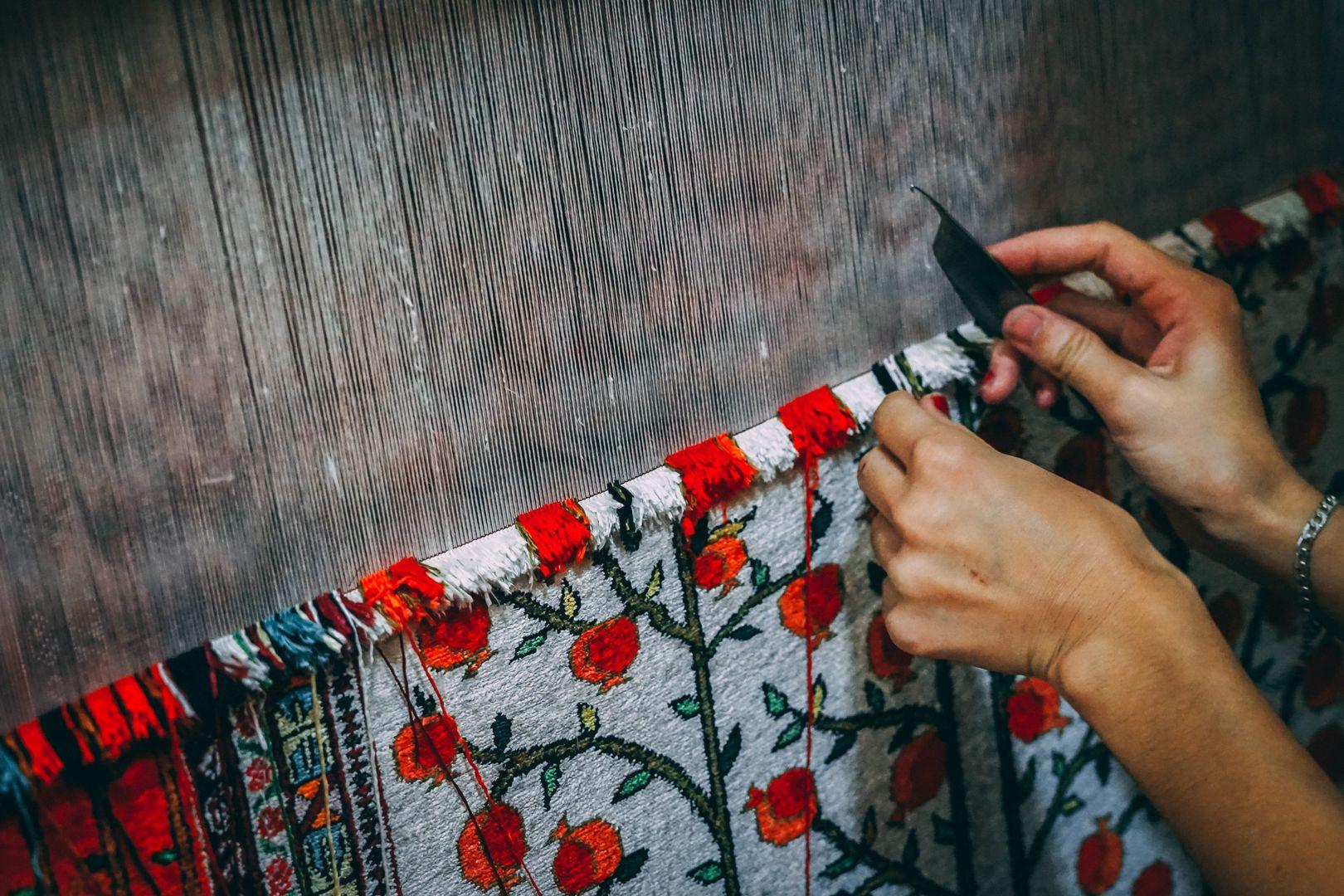 Samarkand silk carpet