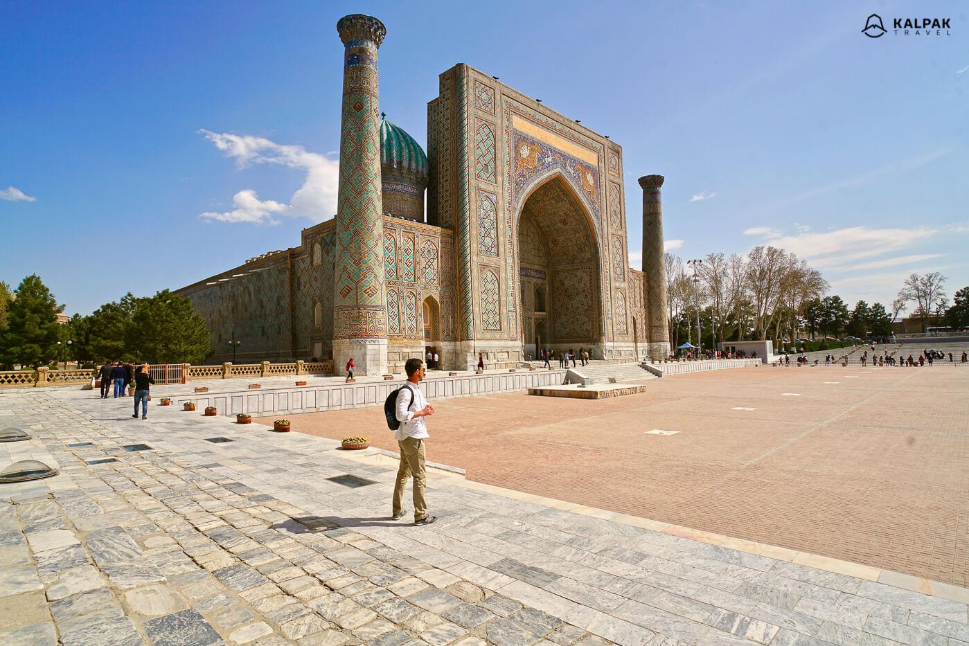 Sher Dor Madrasa in Registan, Samarkand
