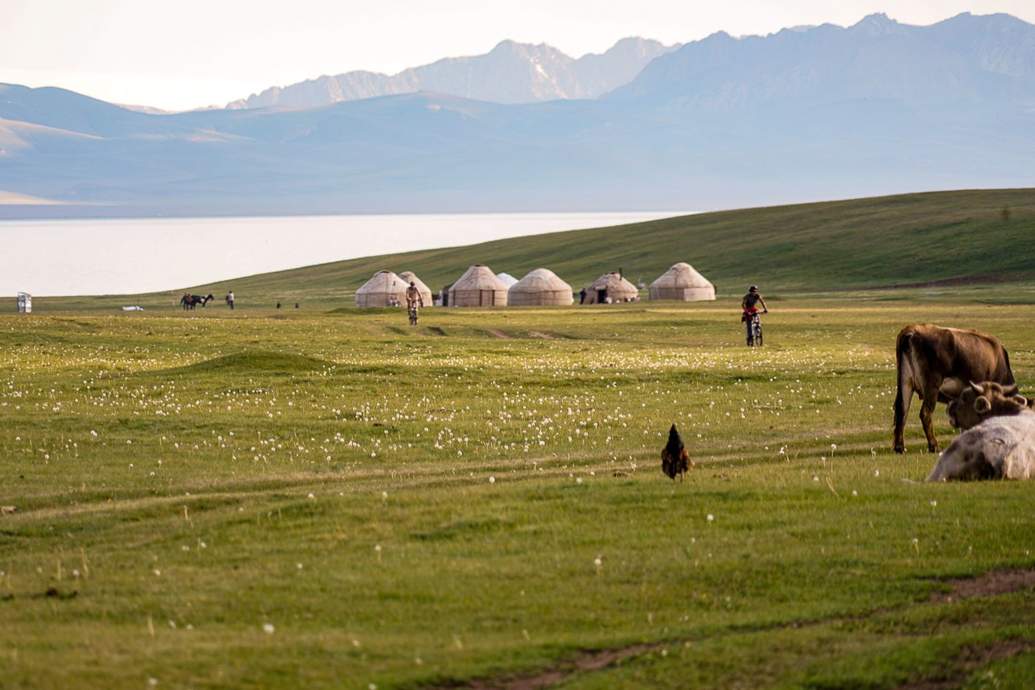 Song Kul, biking