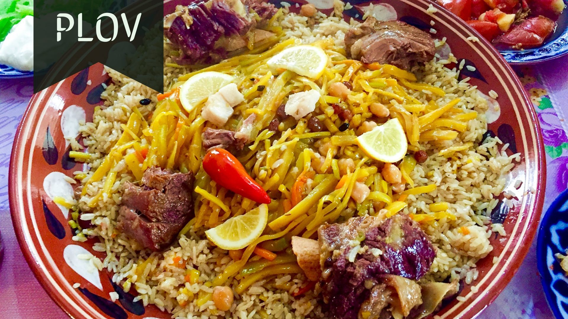 Plov in Central Asian cuisine
