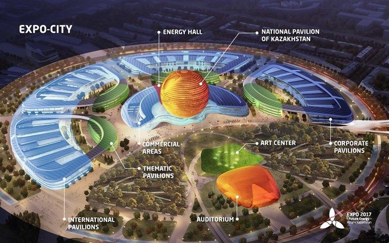 Expo 2017 plan of the exhibition