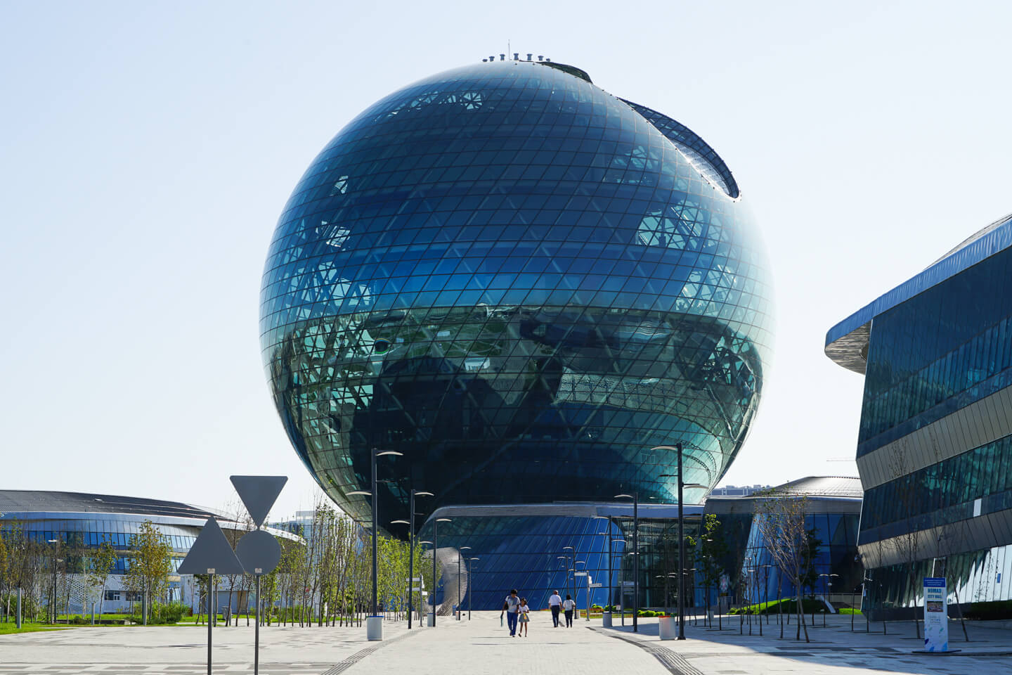 Kazakhstan expo museum in form of glass ball in Nur Sultan