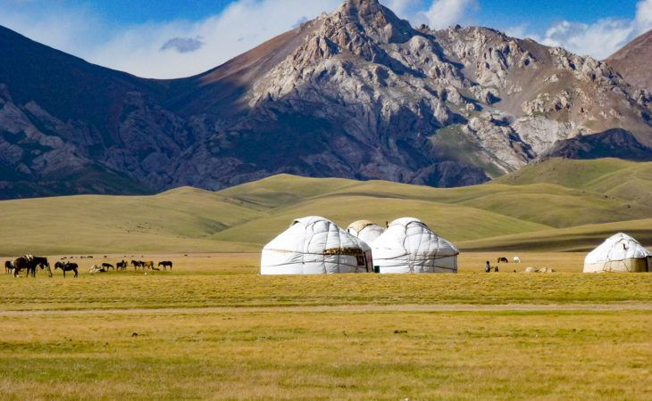 Song-Kol Travel with yurts and mountains in Kyrgyzstan