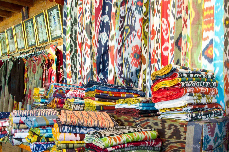 Uzbekistan Tour, Silk production, Ikat
