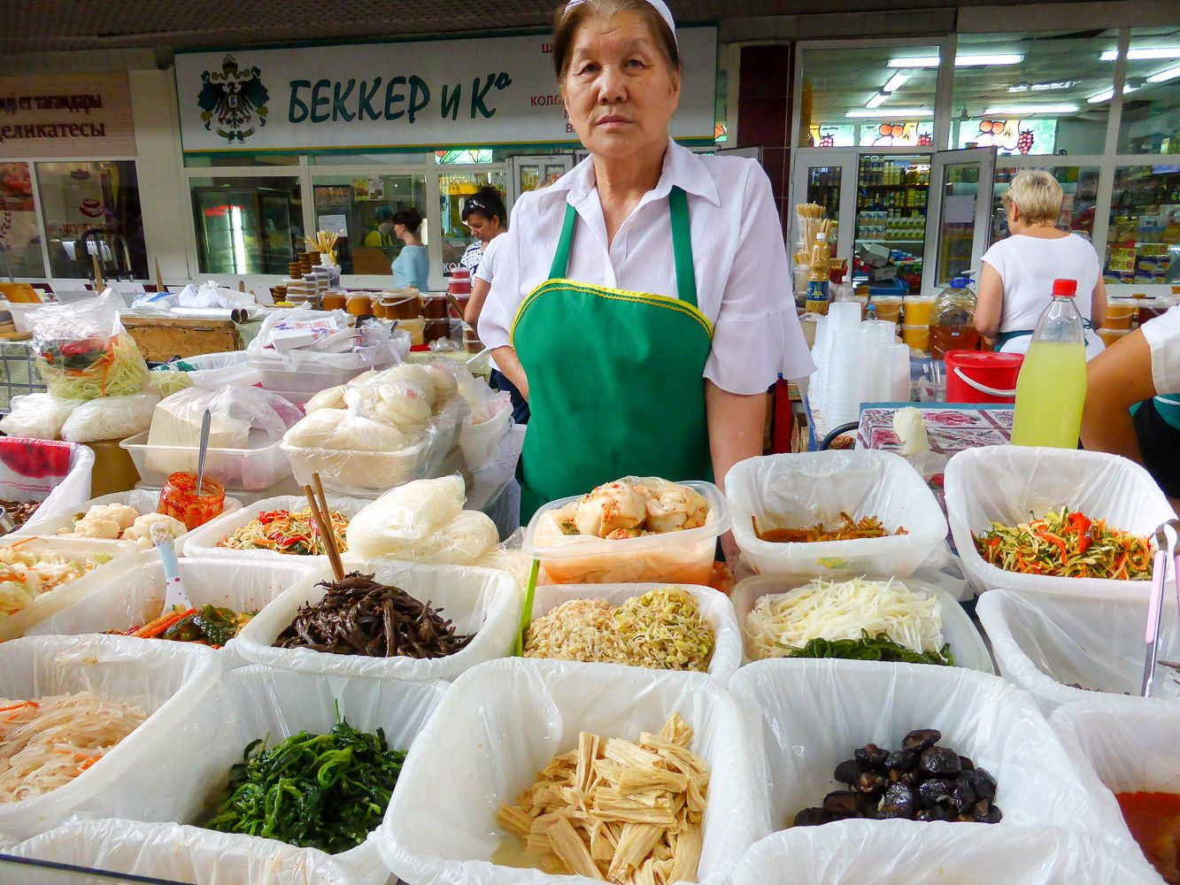 Korean salads variety sold in Central Asian bazaars