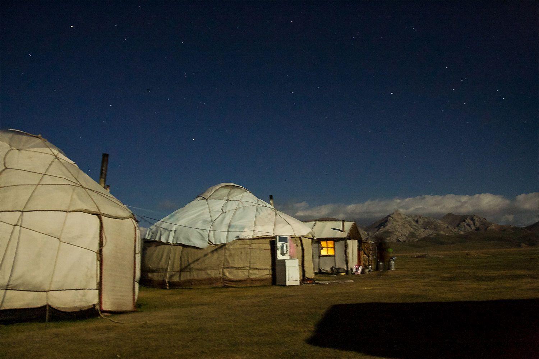Song Kul, yurts, Kyrgyzstan
