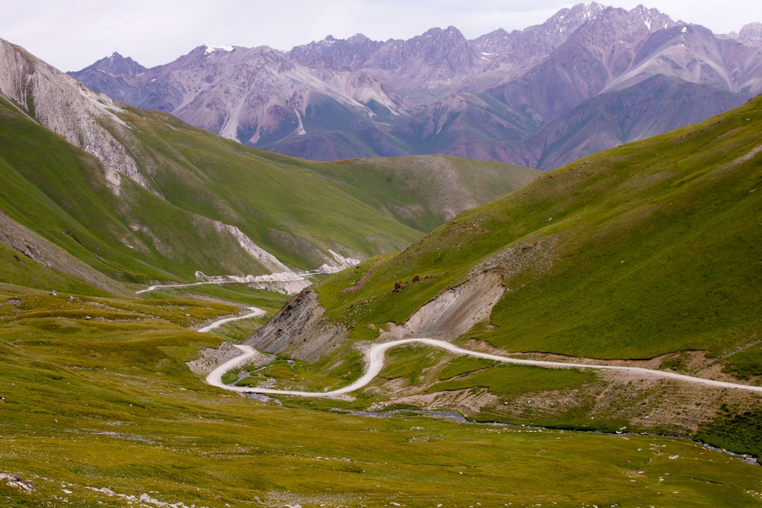 Kyrgyzstan tour, Song Kul to Osh road