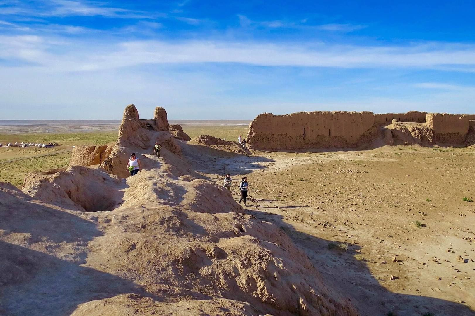 Ayaz Kala ruins in ancient Khorezm, region in Uzbekistan