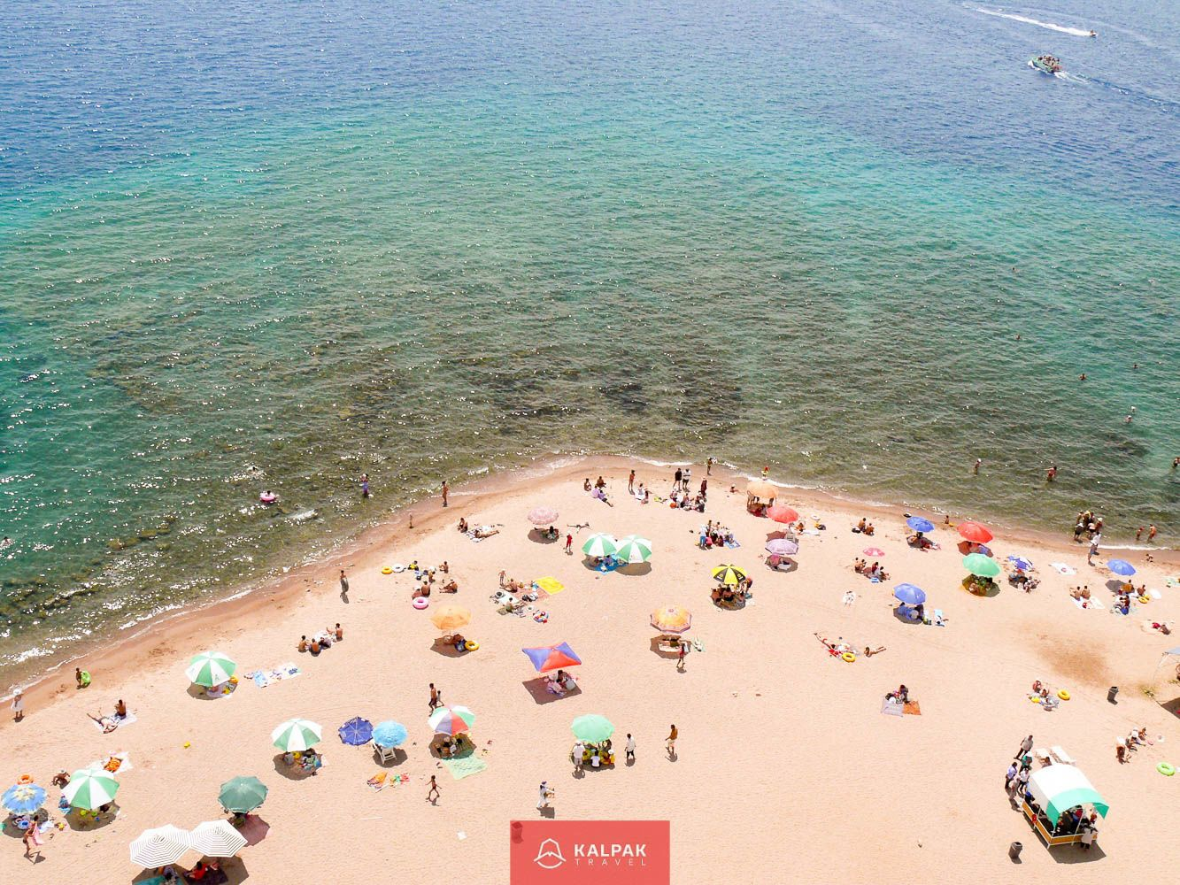 Kyrgyzstan, good weather, beach in summer