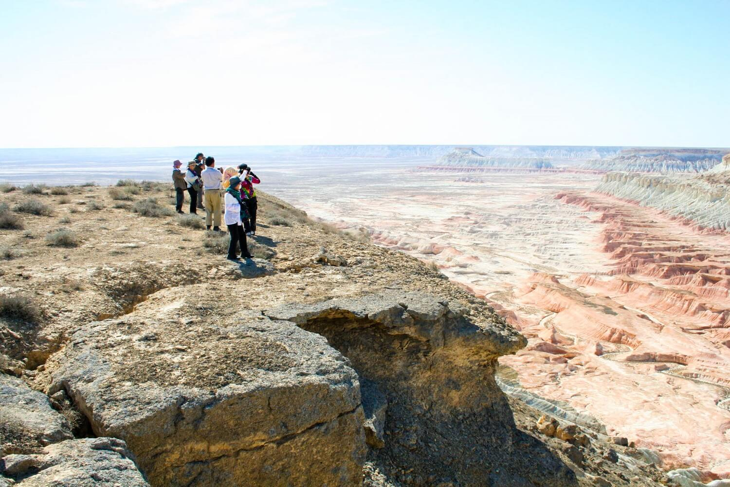Turkmenistan Tour - Yangykala Canyon View