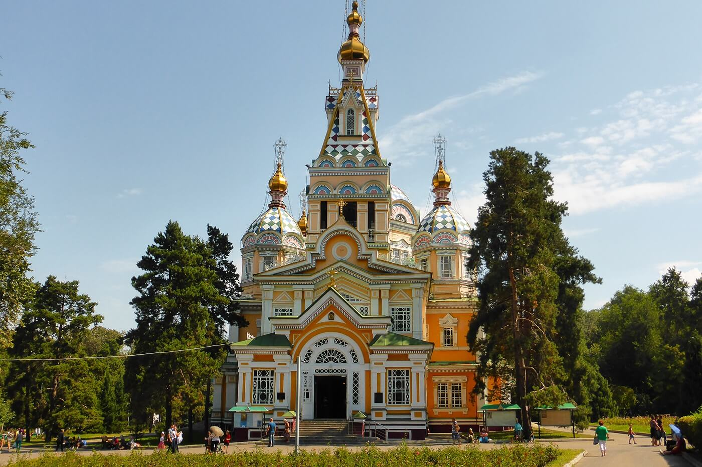 Almaty cathedral in Kazakhstan tour