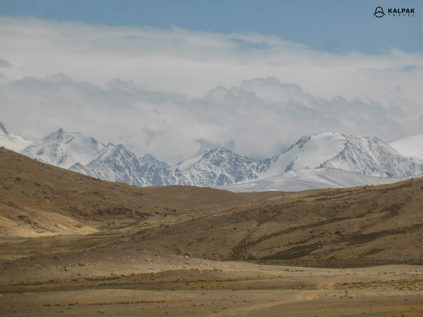 Mountains peaks on Pamir Highway journey