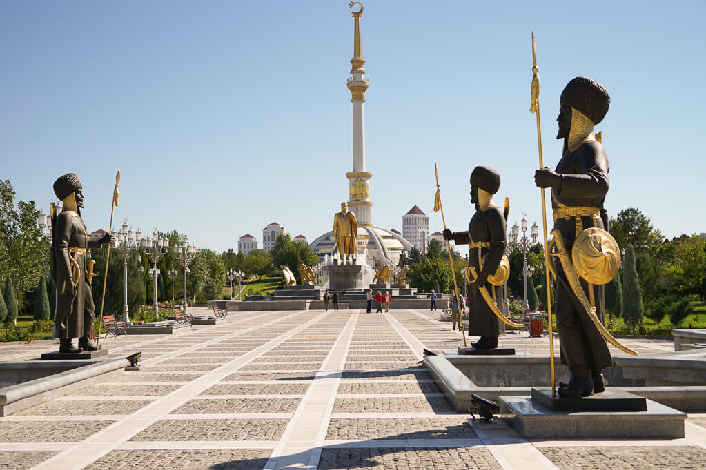 Turkmenistan tour starts in the center of its capital Ashgabat.