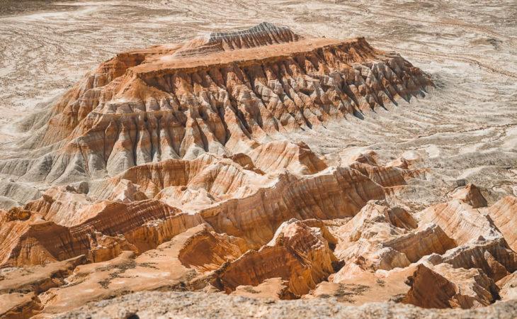 Yangy Kala canyons in Turkmenistan