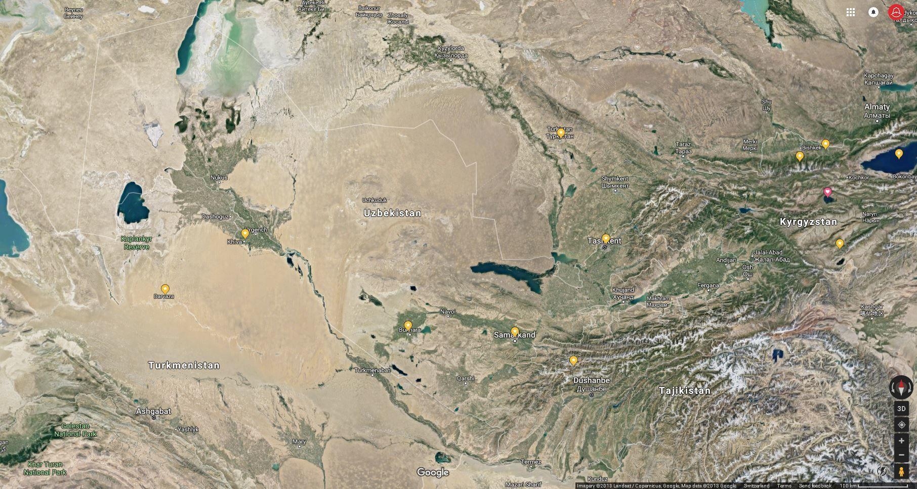 Uzbekistan Geography
