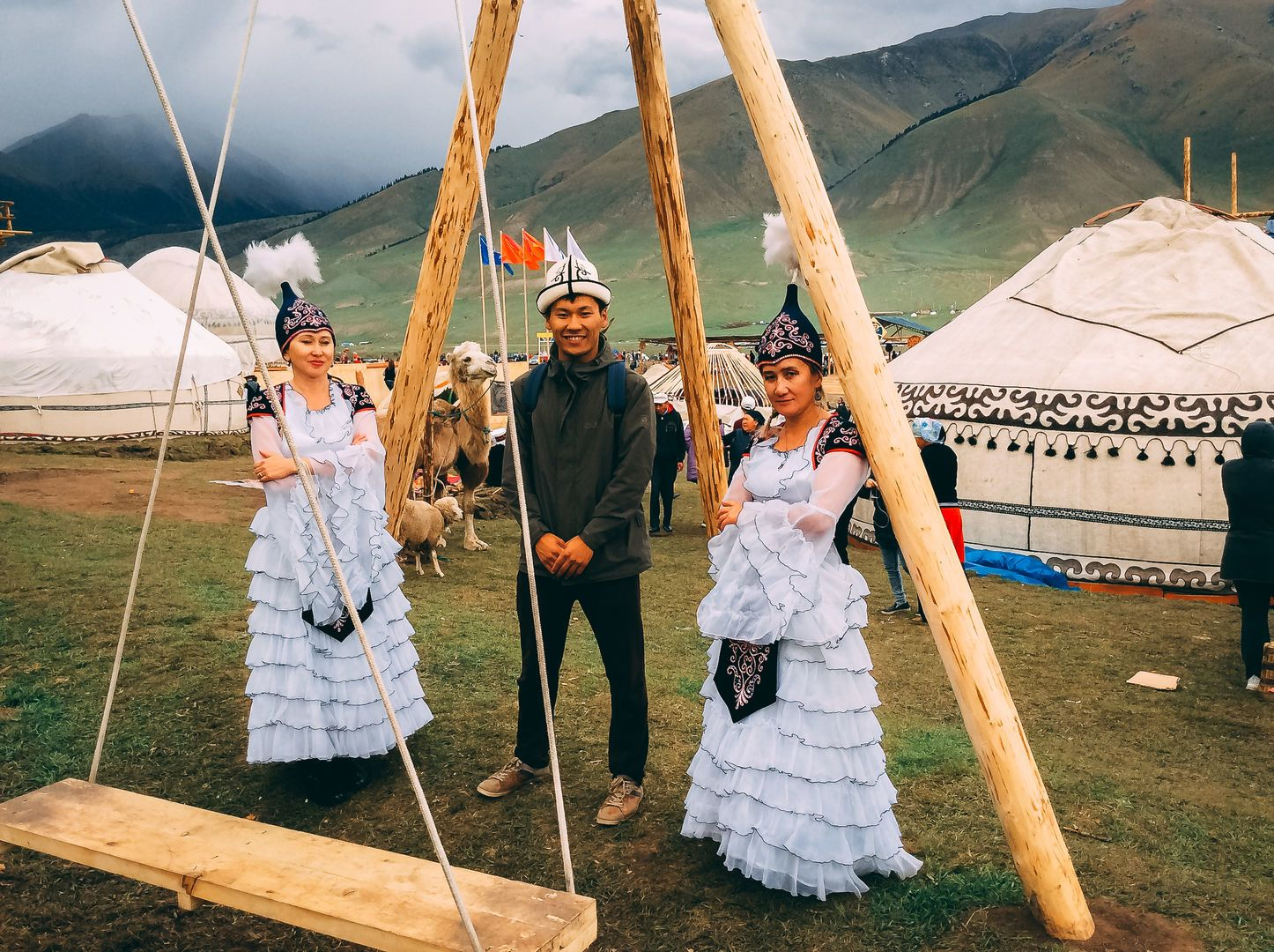 Kyrgyz clothes at the world nomad games