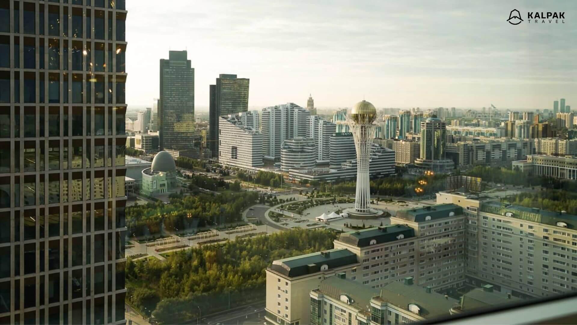 Nursultan ist die Hauptstadt von Kasachstan in Zentralasien