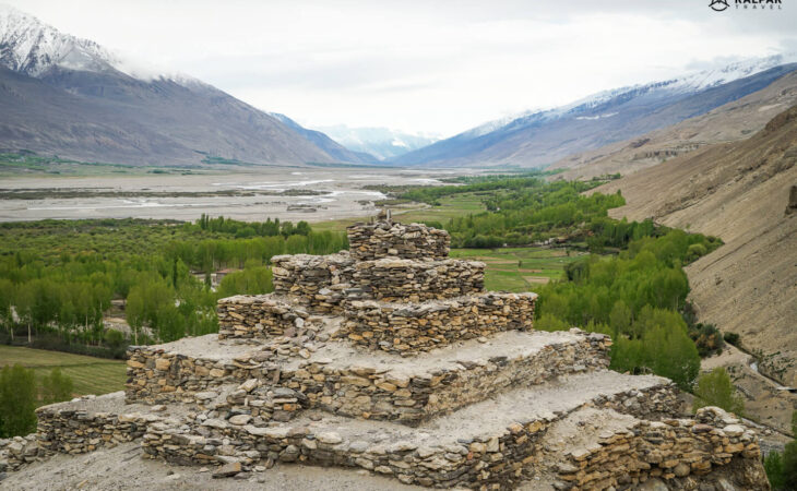 Buddhist Stupa on the Pamir Highway road
