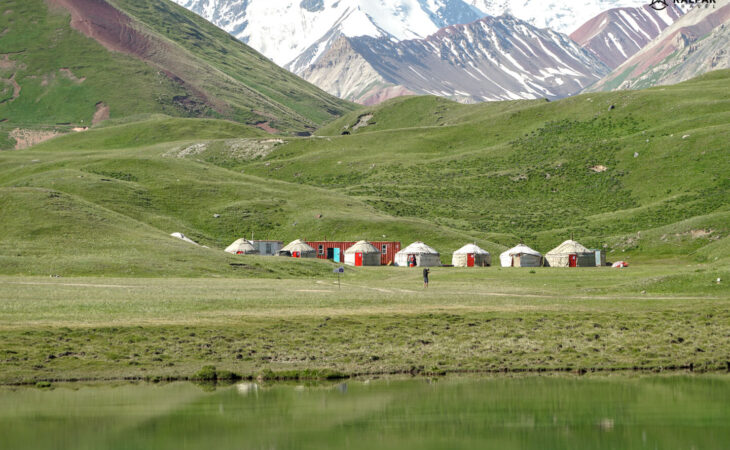 Tulparkul lake by the end of the Pamir Highway