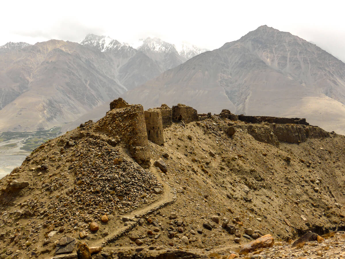 Castle ruins at Pamir Highway