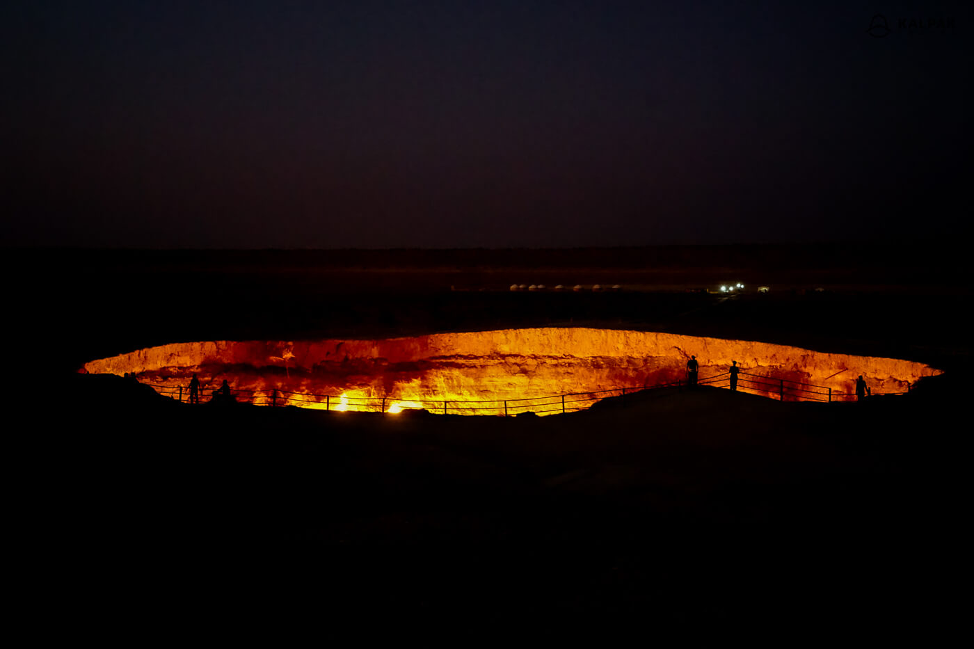 Darvaza or gas crater  in Turkmenistan
