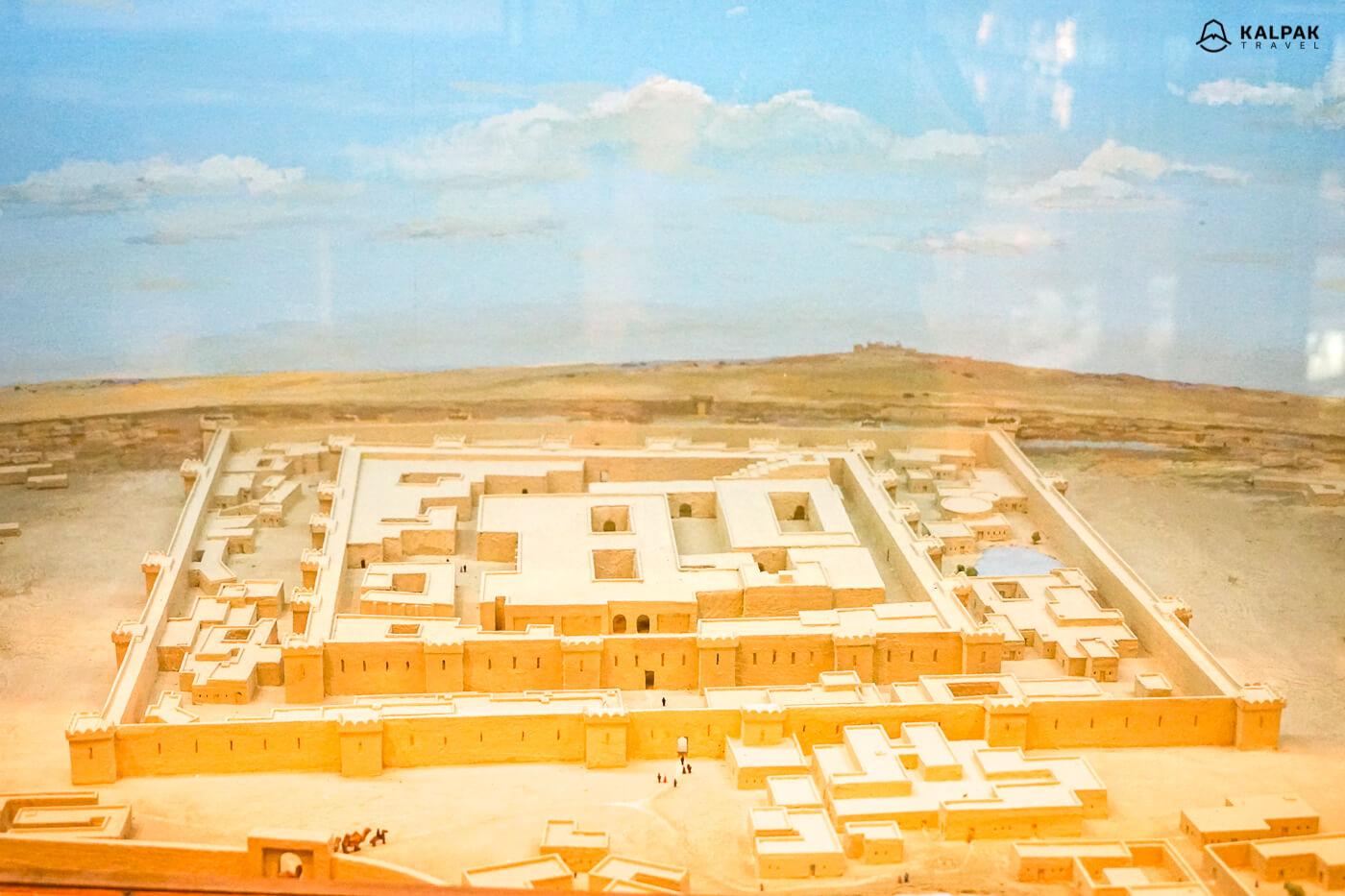 Gonur Depe model of the ruins in Turkmenistan