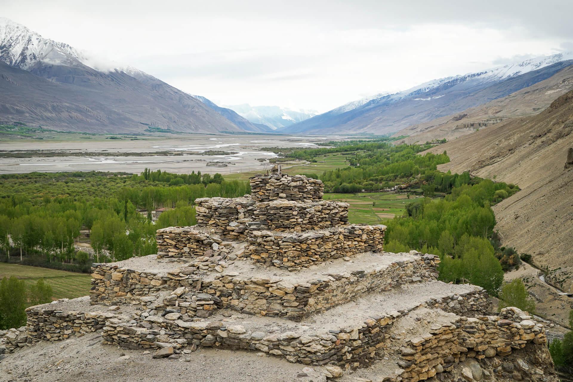 Buddhist stupa in Tajiksitan during Pamir highway