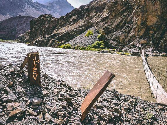 Pamir Highway trekking in Jisev, Tajikistan