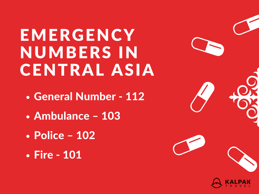 Central Asia - Emergency & Embassy Numbers