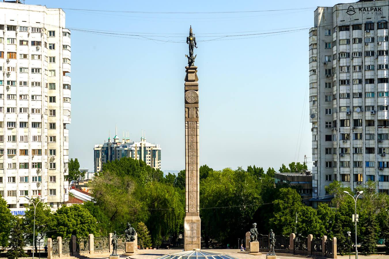 Almaty statue