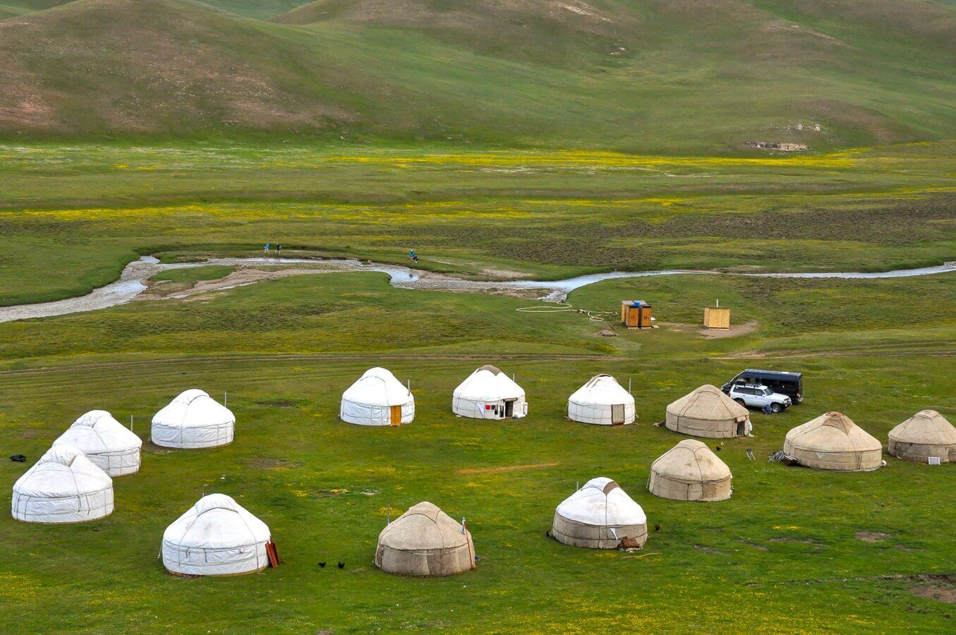 Kyrgyzstan yurt camp in nature