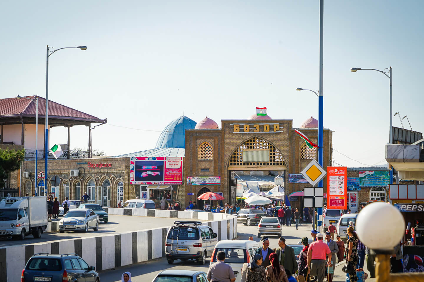 Penjikent central market view