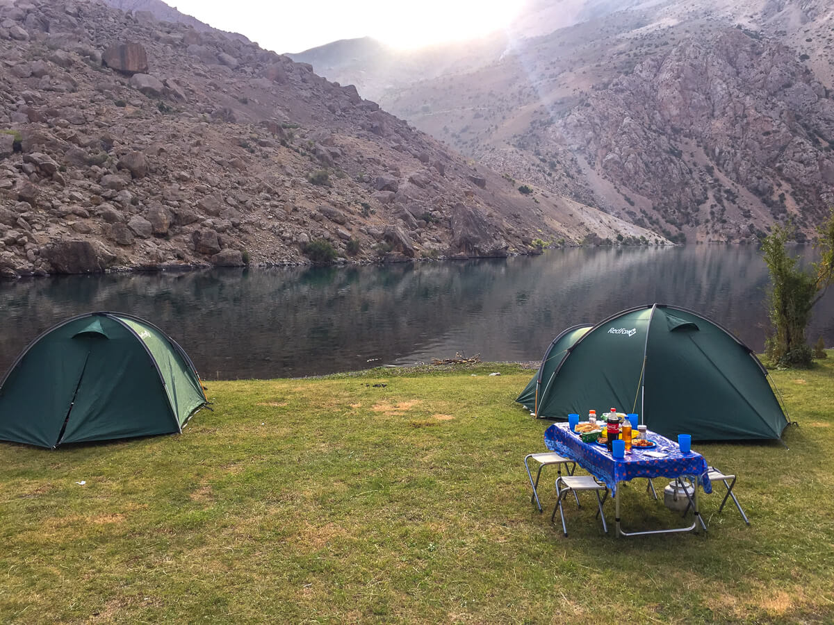 Tajikistan Trekking with tents