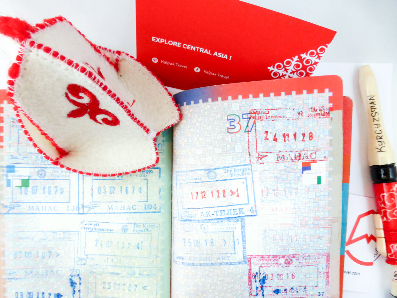 departure passport with stamps