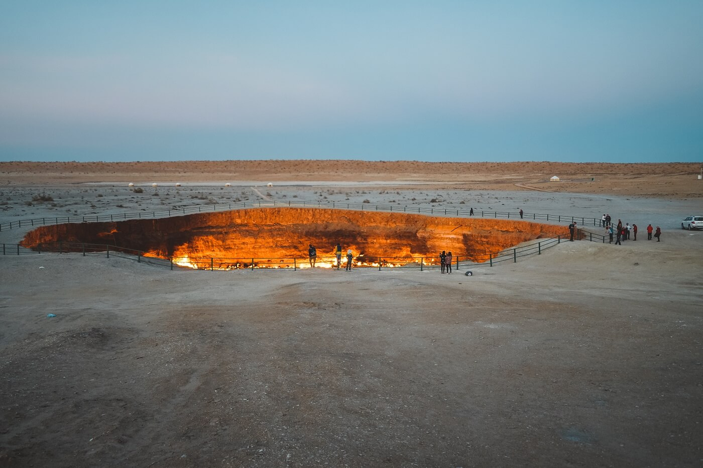 Darvaza gas crater in Turkmenistan