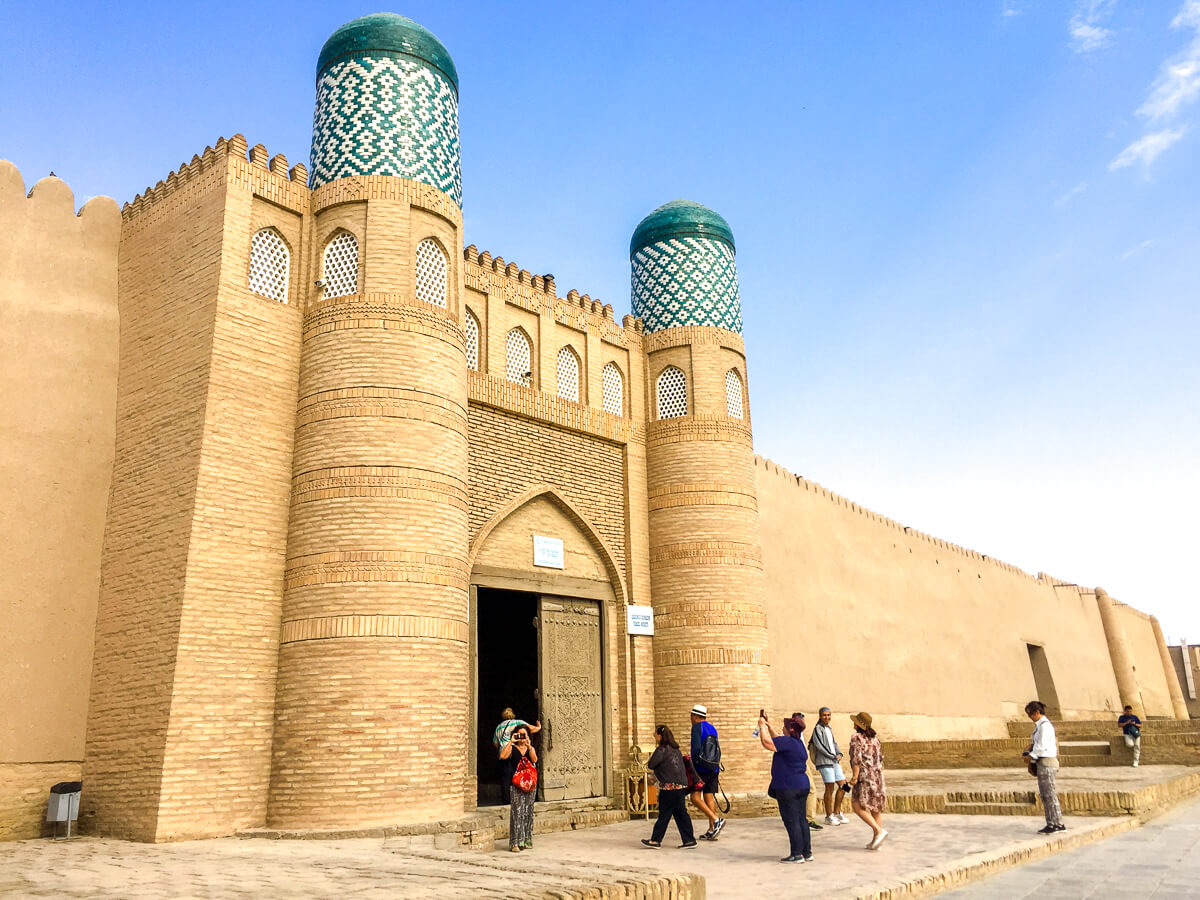 Khiva gates seen on our Uzbekistan tour