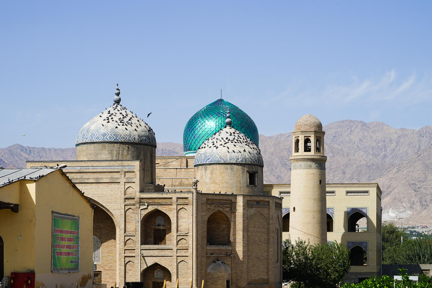 Khujand mosque domes in Tajikistan