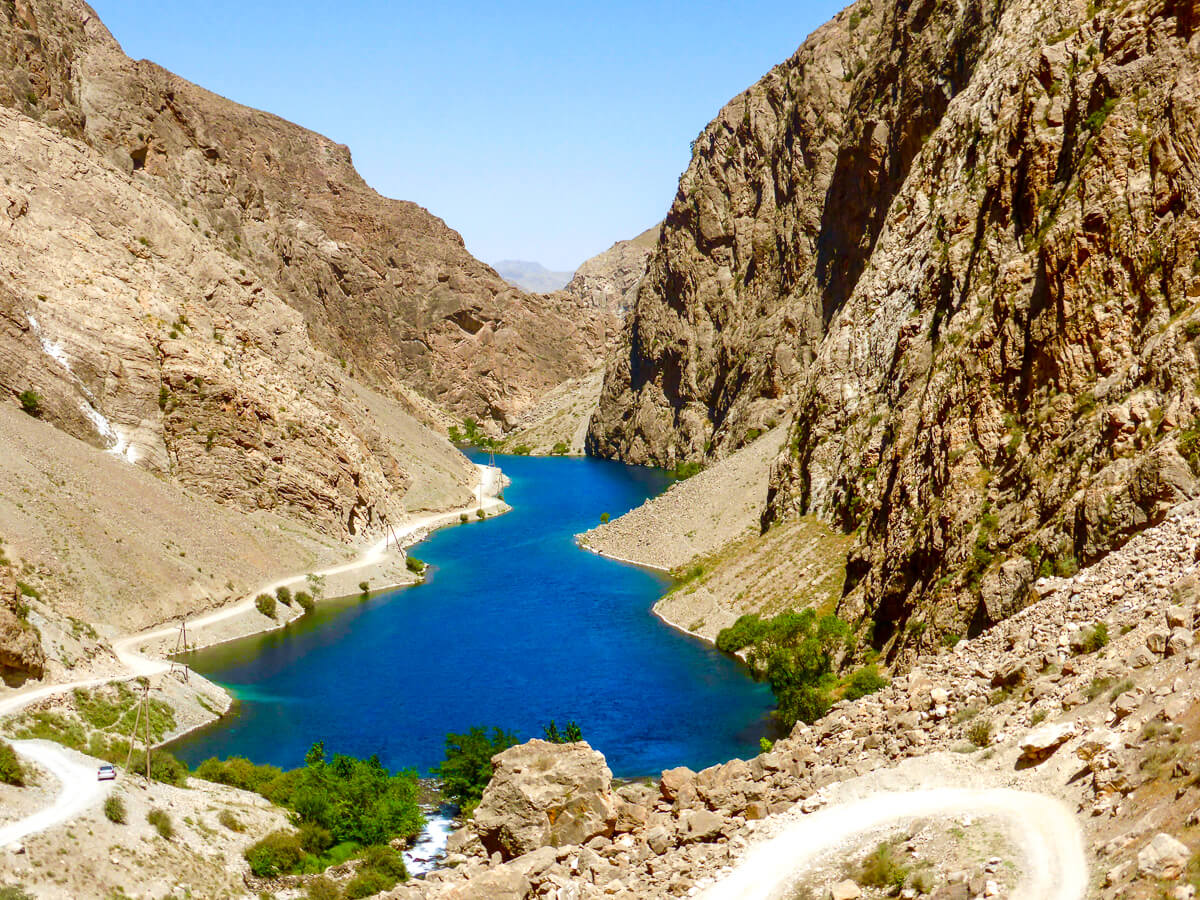 mountain lake in Tajikistan