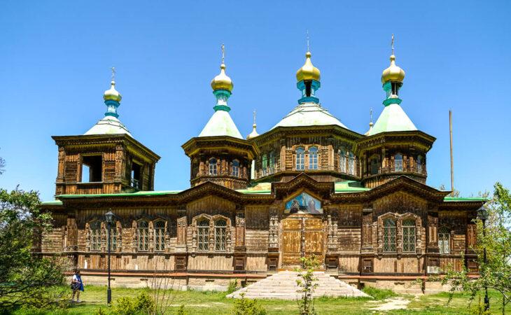 Karakol city in Central Asia