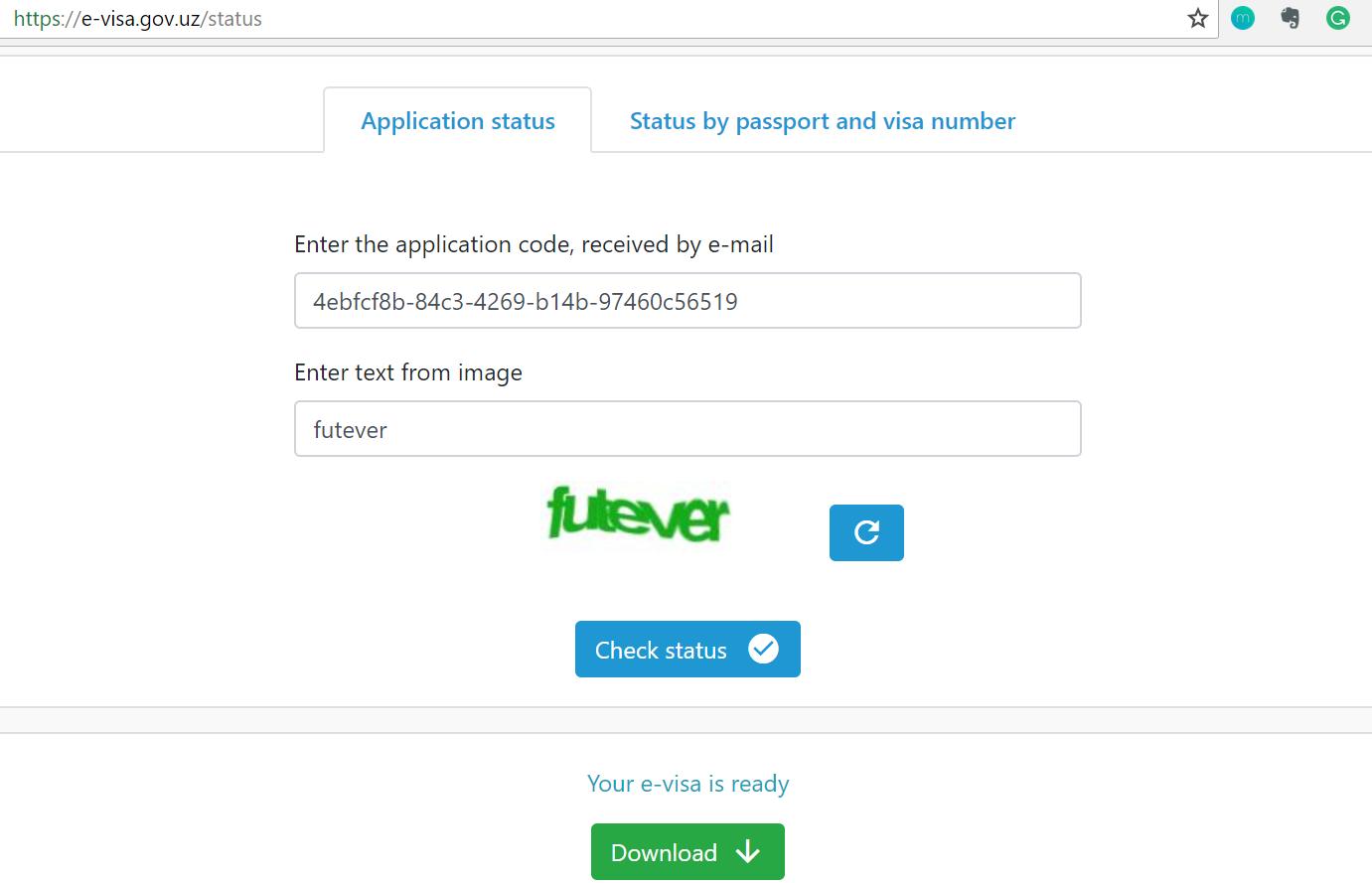 Uzbekistan Visa download