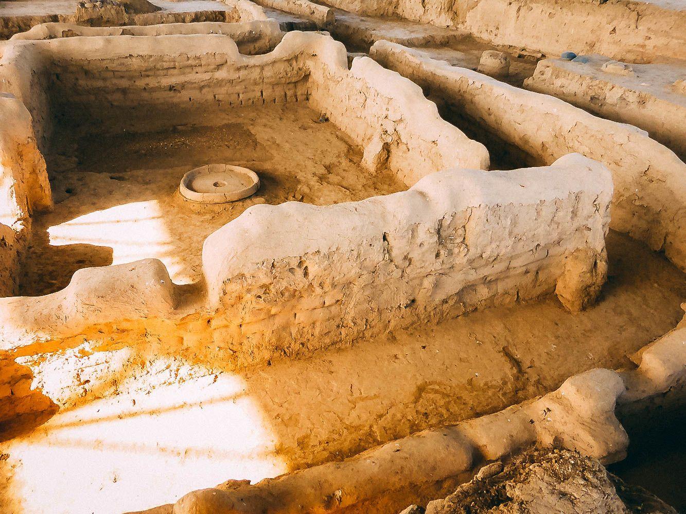 Sarezm Ausgrabungen neben Penjikent in Tadschikistan
