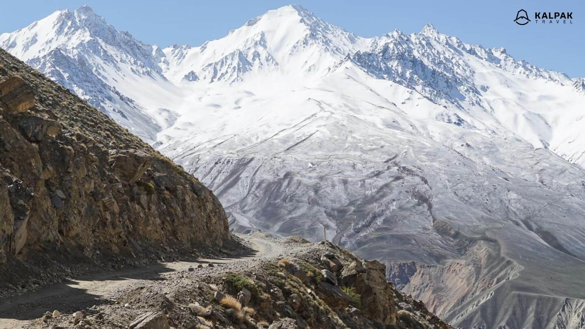 Pamir Highway in Tajikistan in Central Asia