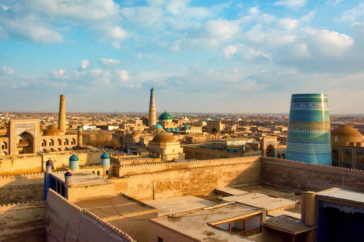 Silk Road city Khiva in Uzbekistan