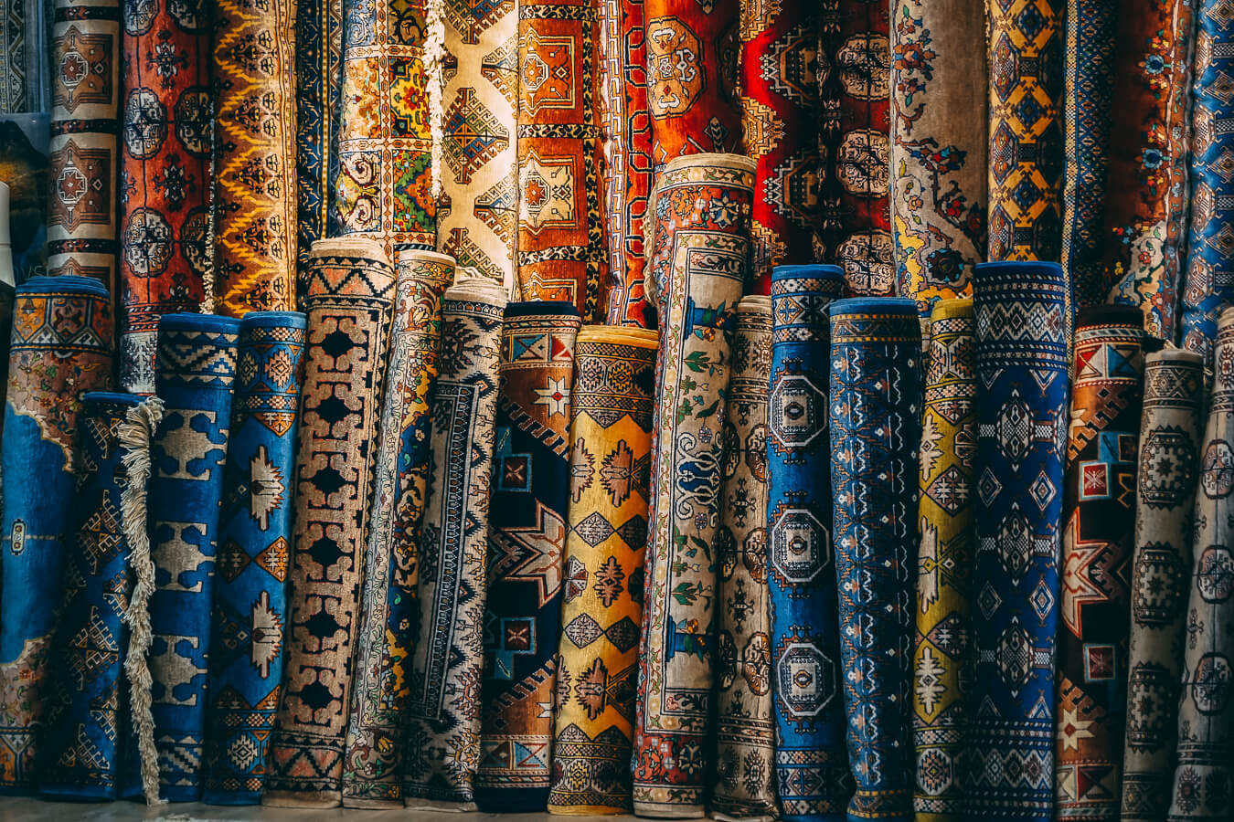 Silk road carpets in Bukhara