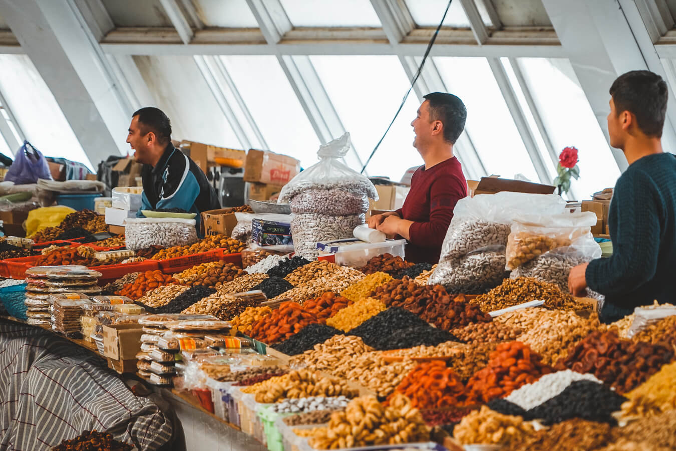 dried fruits in Tashkent bazaar