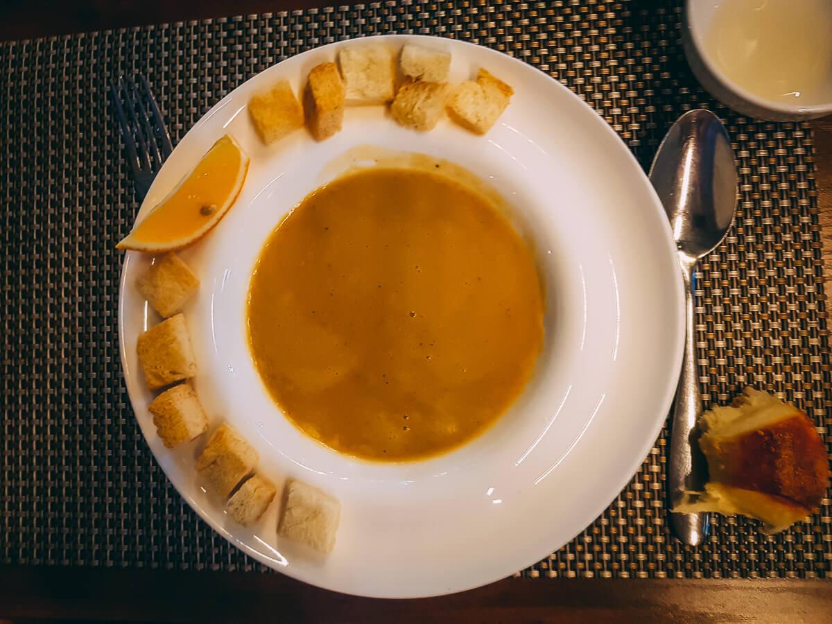 Lentil soup in Uzbekistan
