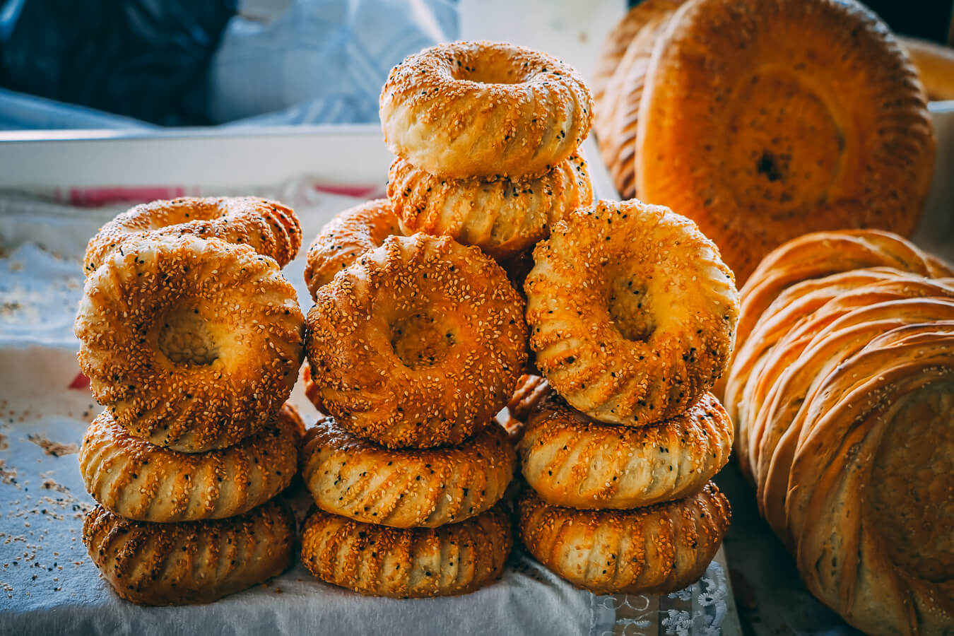 Uzbek round bread is called also lepeshka